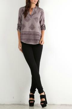 lelis Grey Printed Blouse - Product List Image