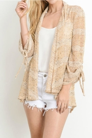 lelis Tied Sleeve Cardigan - Product Mini Image
