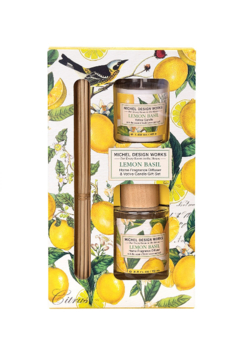 Michel Design Works Lemon Basil Diffuser Set - Alternate List Image