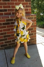 Doe a Dear Lemon-Print Cascading-Layered Sundress - Front cropped