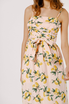 Moodie Lemon Print Midi Dress - Alternate List Image