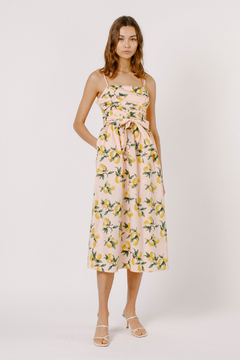 Moodie Lemon Print Midi Dress - Product List Image