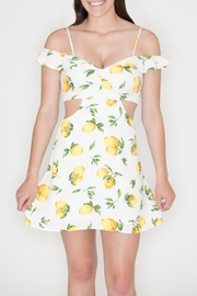 Wild Honey Lemon Print Sundress - Product Mini Image