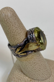 BORA ENTERPRESES INC. LEMON QUARTZ RING - Front full body