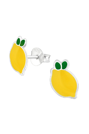 Silver Jewels Lemon Silver Stud Earrings - Product Mini Image