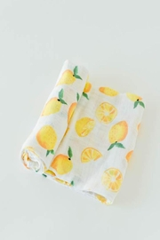 Little Unicorn Lemon Swaddle Blanket - Front cropped
