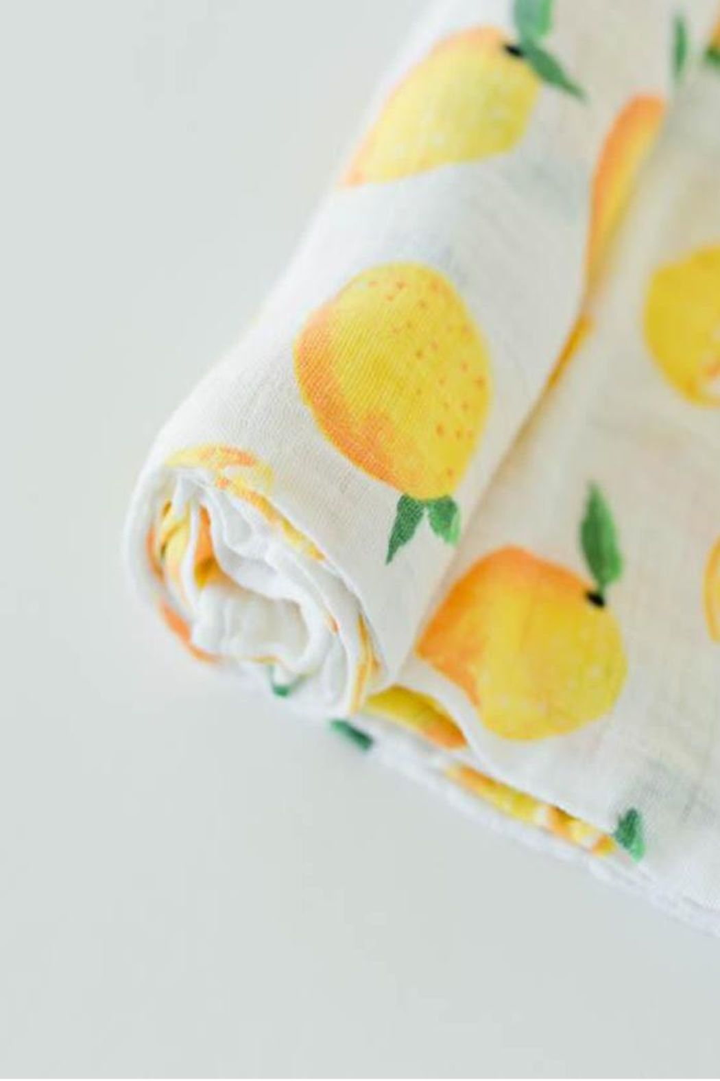 Little Unicorn Lemon Swaddle Blanket - Front Full Image
