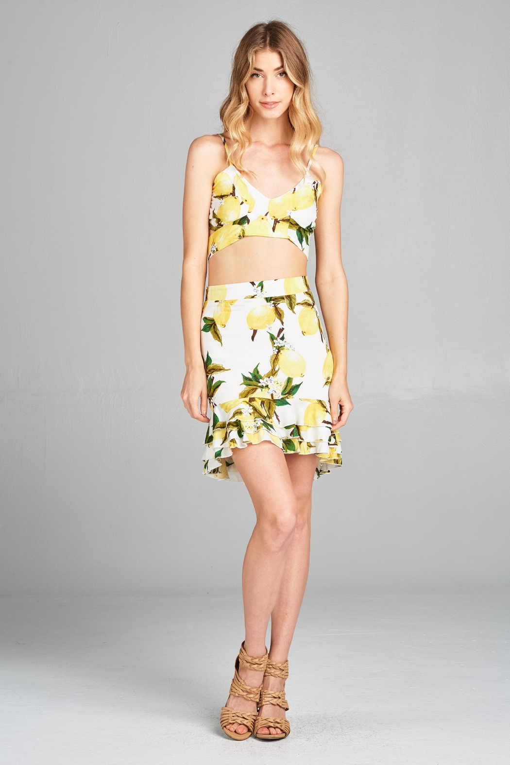 Racine Lemon Two-Piece Set - Front Full Image
