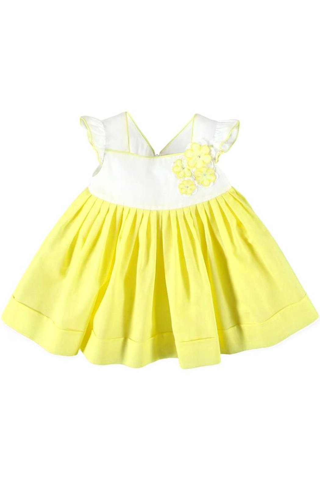 Mayoral Lemon Voile Dress - Main Image