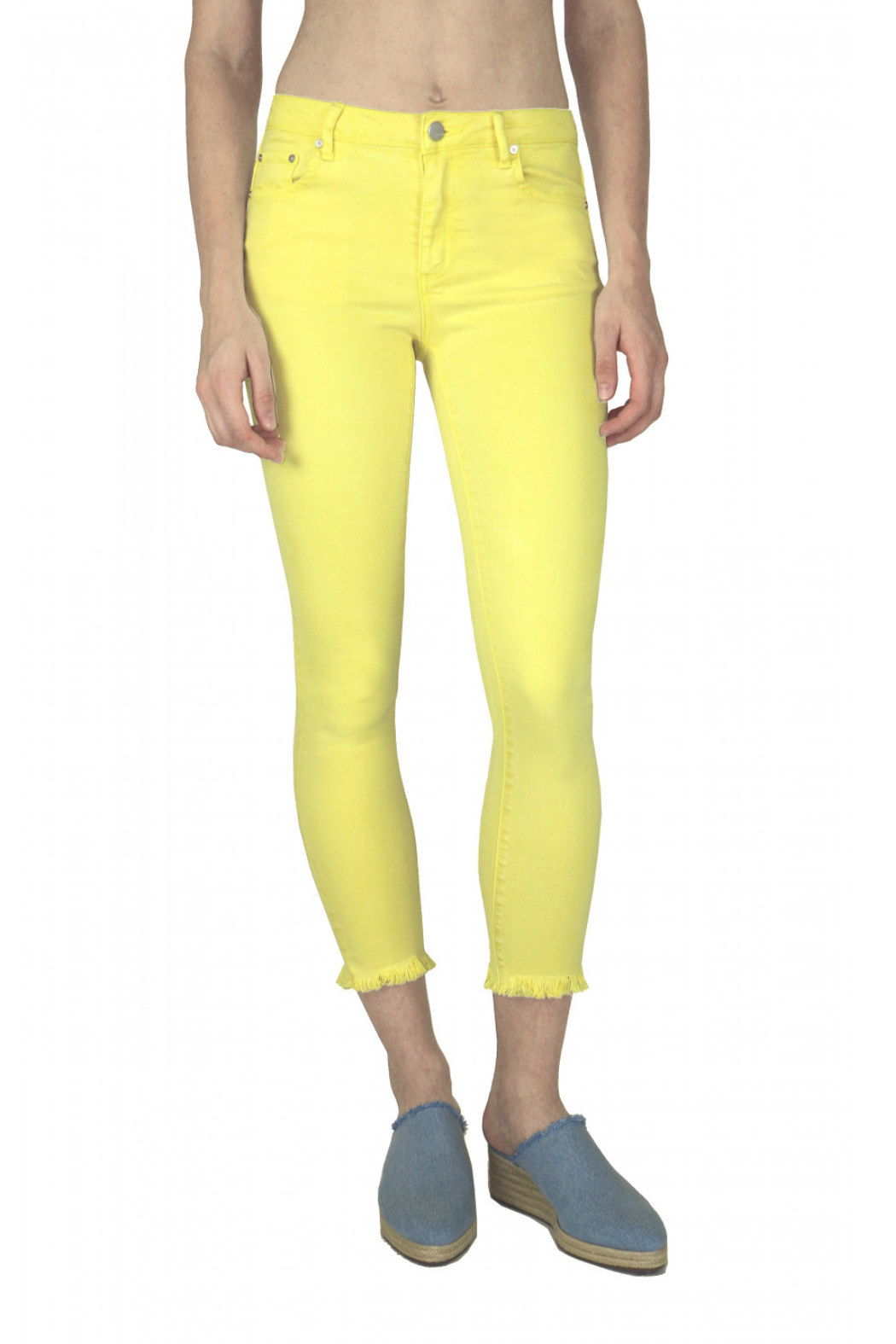 Tractr (New York Poplin) Lemon Zest Jeans - Main Image