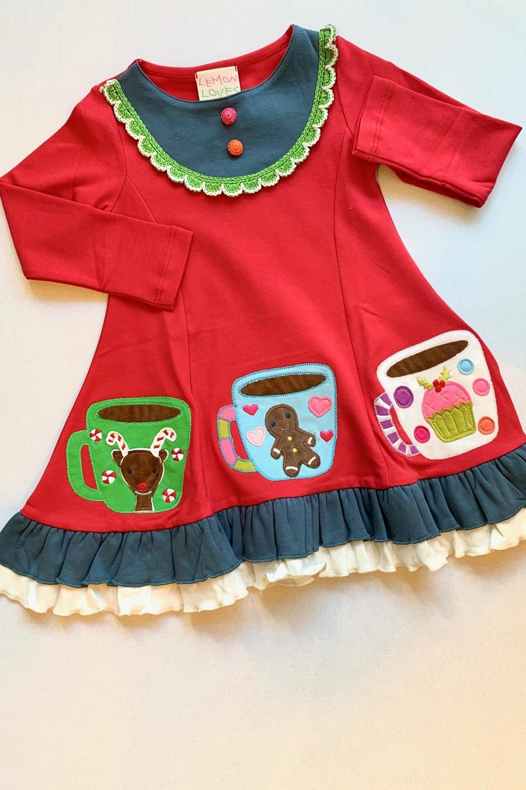 Lemon Loves Lime Gingerbread Holiday Dress - Main Image