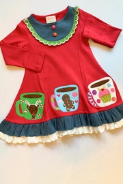 Lemon Loves Lime Gingerbread Holiday Dress - Front cropped