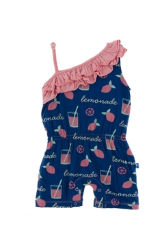 Kickee Pants Lemonade Diagonal-Romper - Alternate List Image