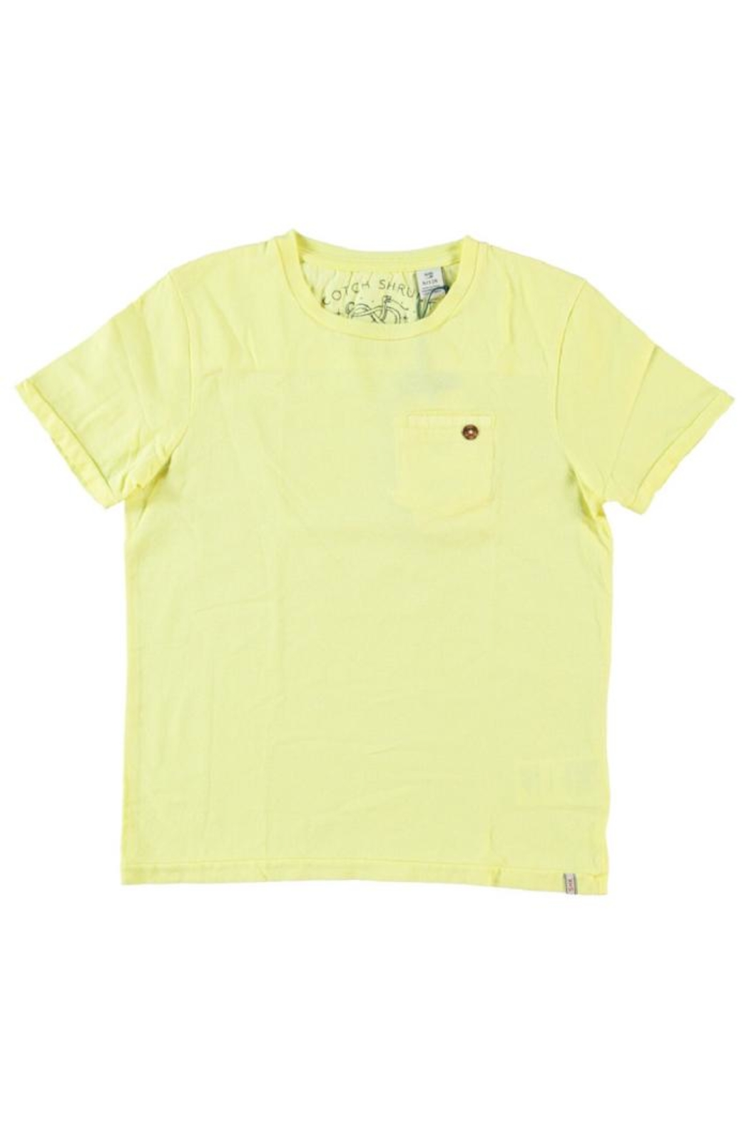Scotch Shrunk Lemonade Pocket Tee - Front Cropped Image