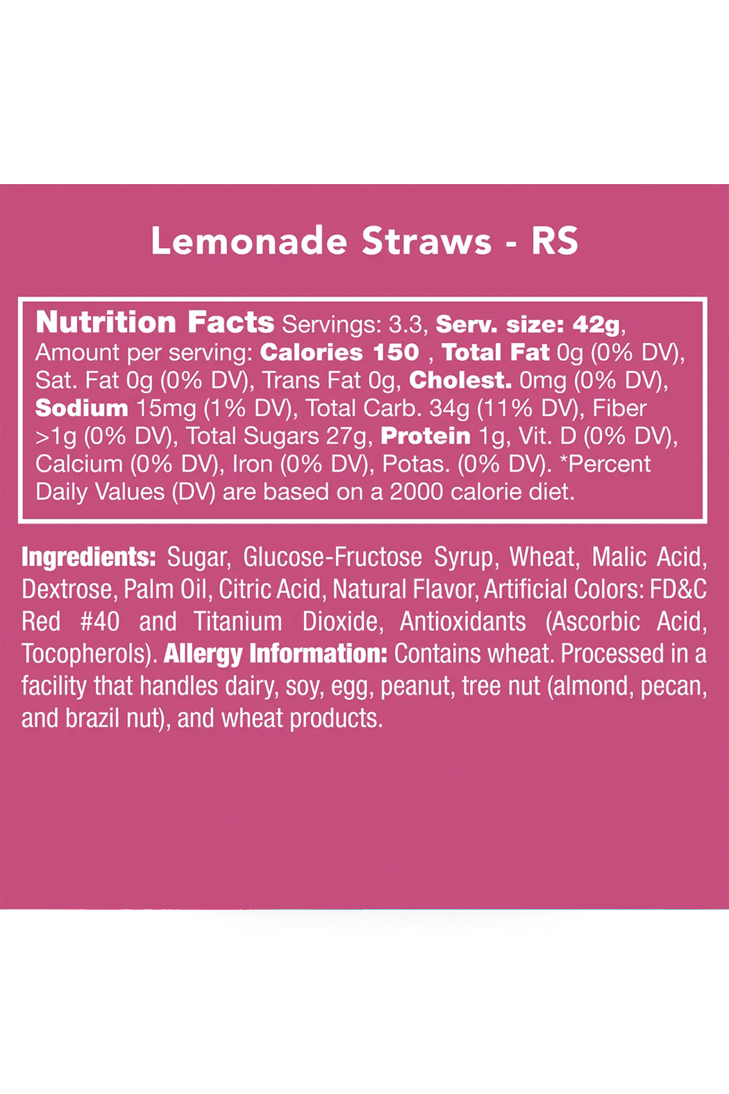 Candy Club Lemonade Straws - Side Cropped Image