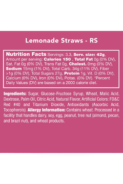 Candy Club Lemonade Straws - Alternate List Image