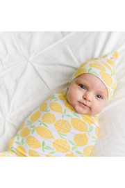 Little Sleepies Lemons Bamboo Viscose Swaddle + Hat Set - Product Mini Image