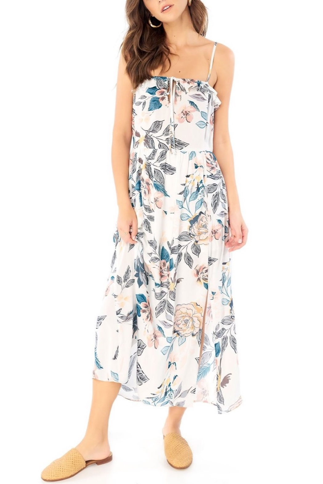 Saltwater Luxe Lena Midi Skirt - Front Cropped Image