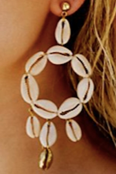 LENA BERNAD Shell Hoop Earrings - Product List Image
