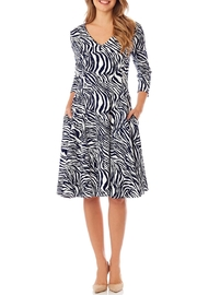 Jude Connally Lennox Ponte Fit-n-Flare - Front cropped