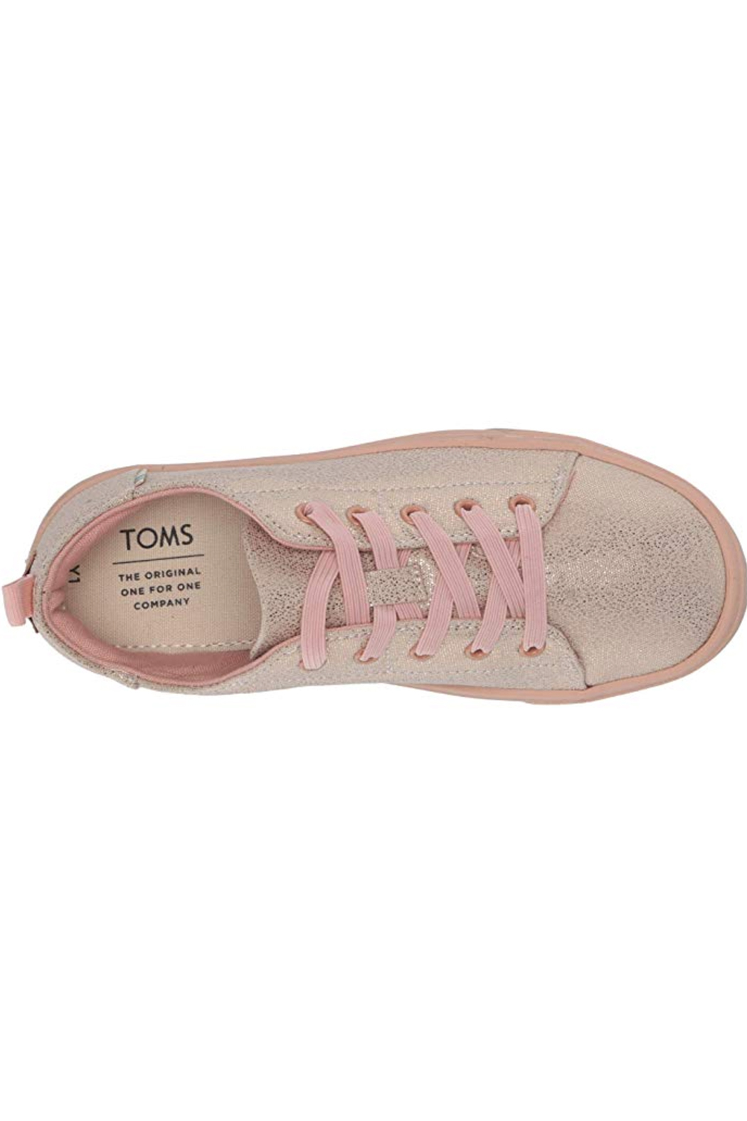 TOMS Lenny Elastic Rose Gold Iridesacent Droplets - Front Full Image
