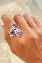 Lenore Jewelry Amethyst Ring - Front cropped