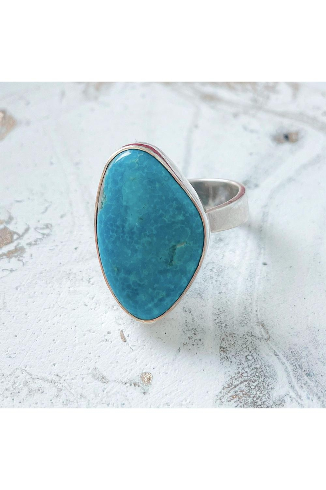 Lenore Jewelry Blue Agate Ring - Main Image