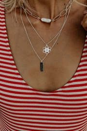 Lenore Jewelry Om & Namasté Double Chain Necklace - Product Mini Image