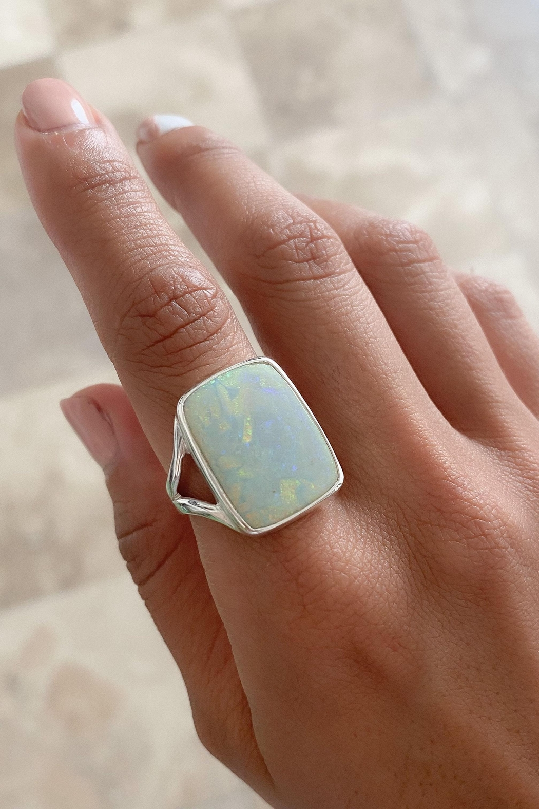 Lenore Jewelry Opal Ring - Front Full Image
