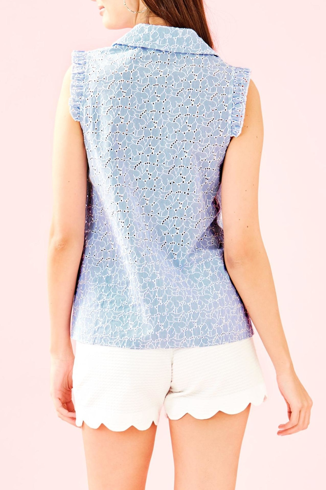 Lilly Pulitzer Lenox Button-Front Top - Front Full Image