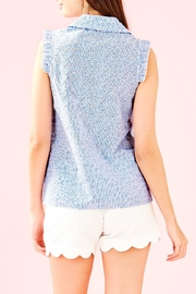 Lilly Pulitzer Lenox Button-Front Top - Front full body