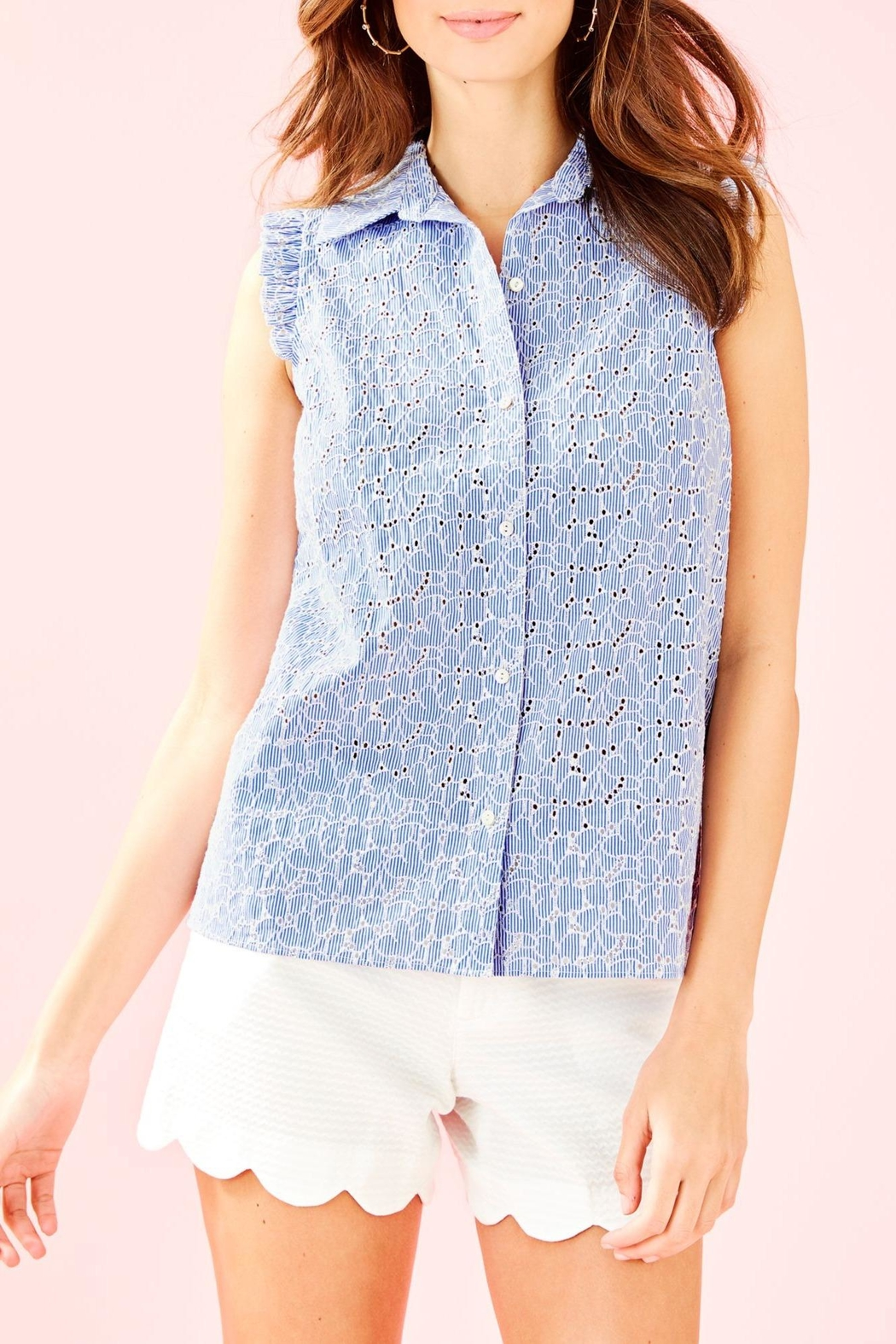 Lilly Pulitzer Lenox Button-Front Top - Main Image