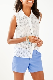 Lilly Pulitzer Lenox Button-Front Top - Product Mini Image