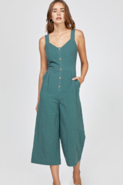 Greylin Lenox Button-Up Culotte Jumpsuit - Front cropped