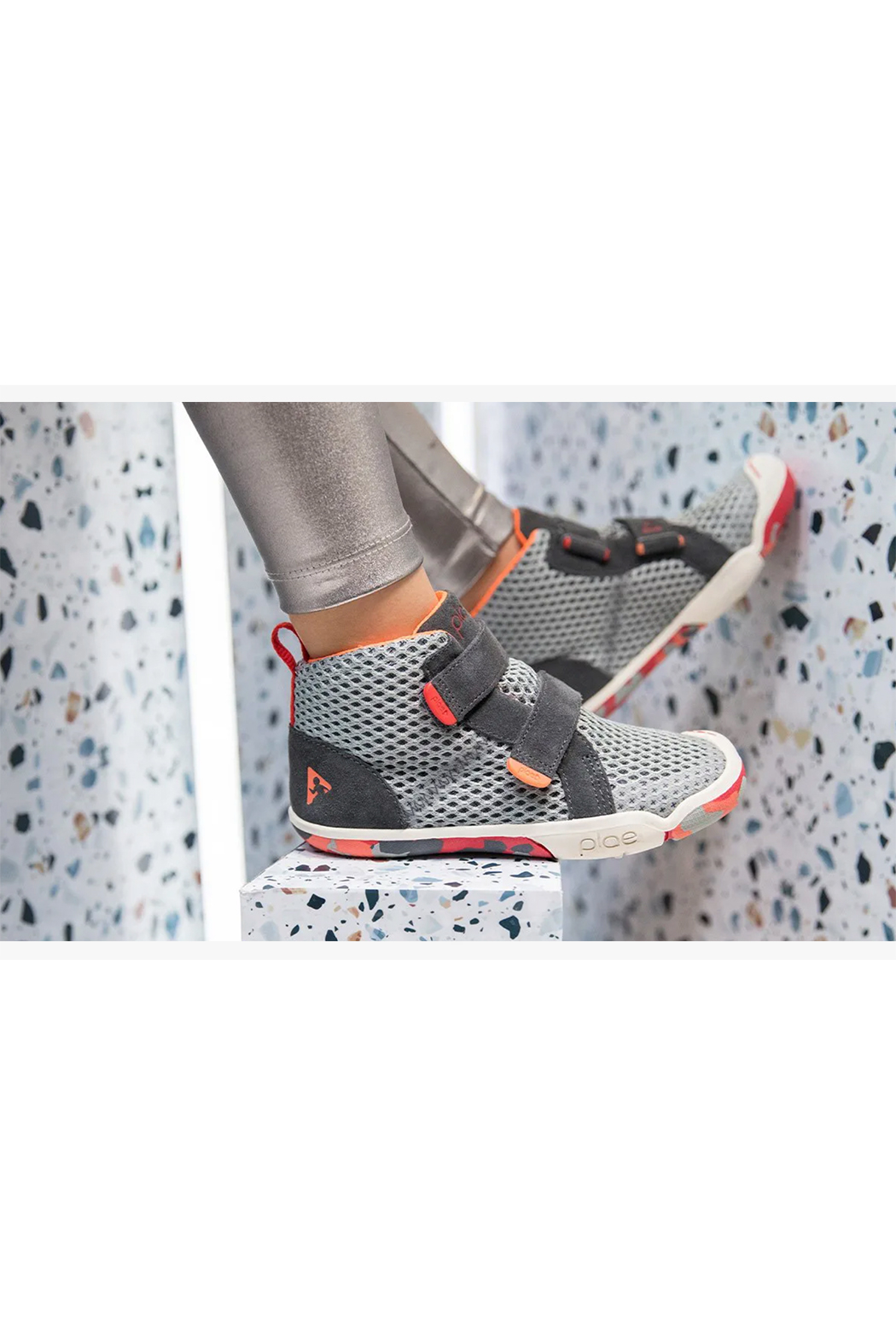 PLAE Leo Hi-Top Youth Sneaker - Side Cropped Image
