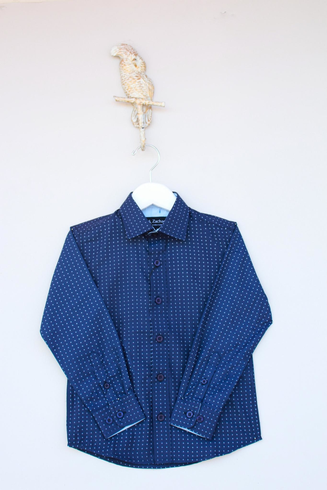 Leo & Zachary Navy Button Down - Main Image
