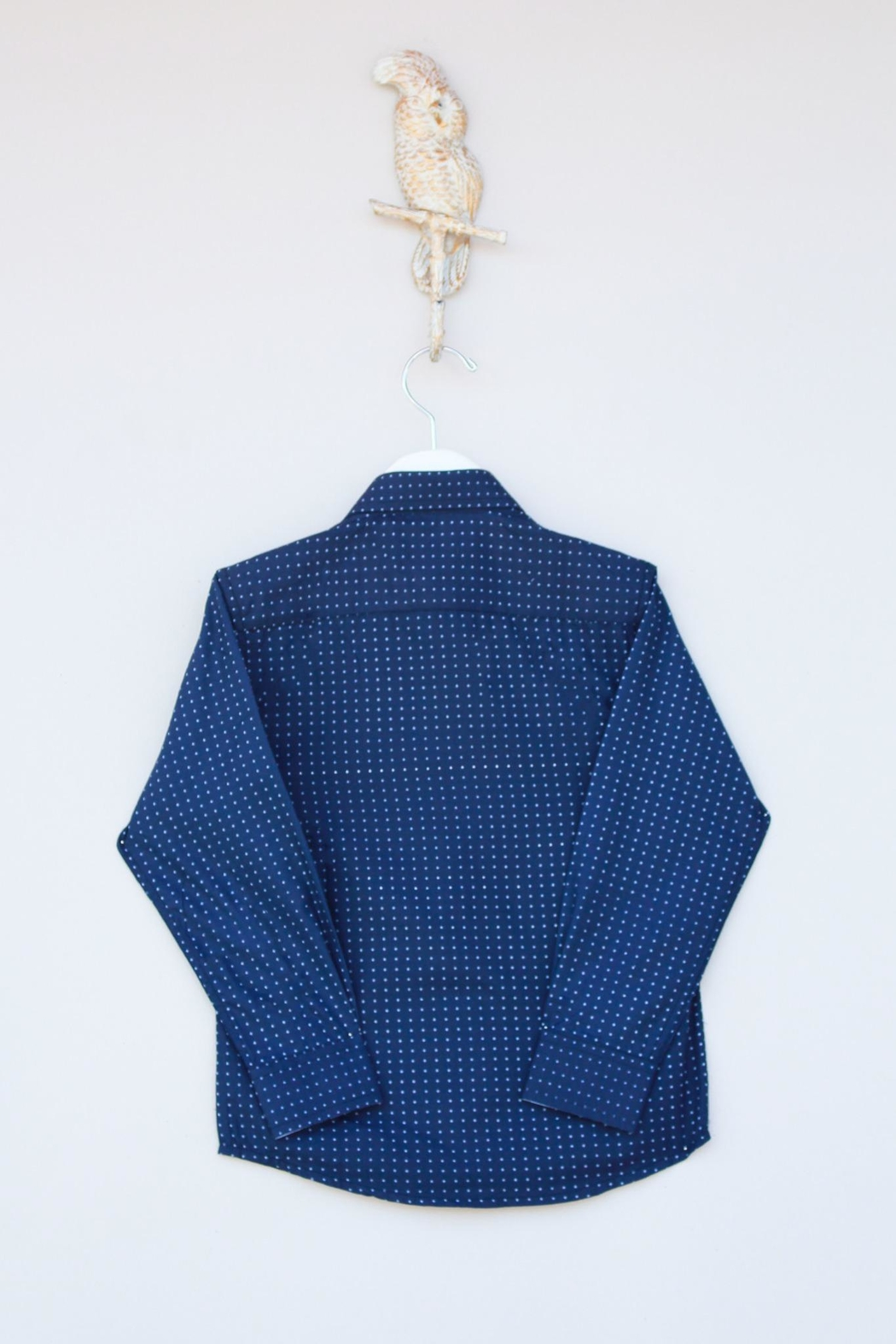 Leo & Zachary Navy Button Down - Front Full Image