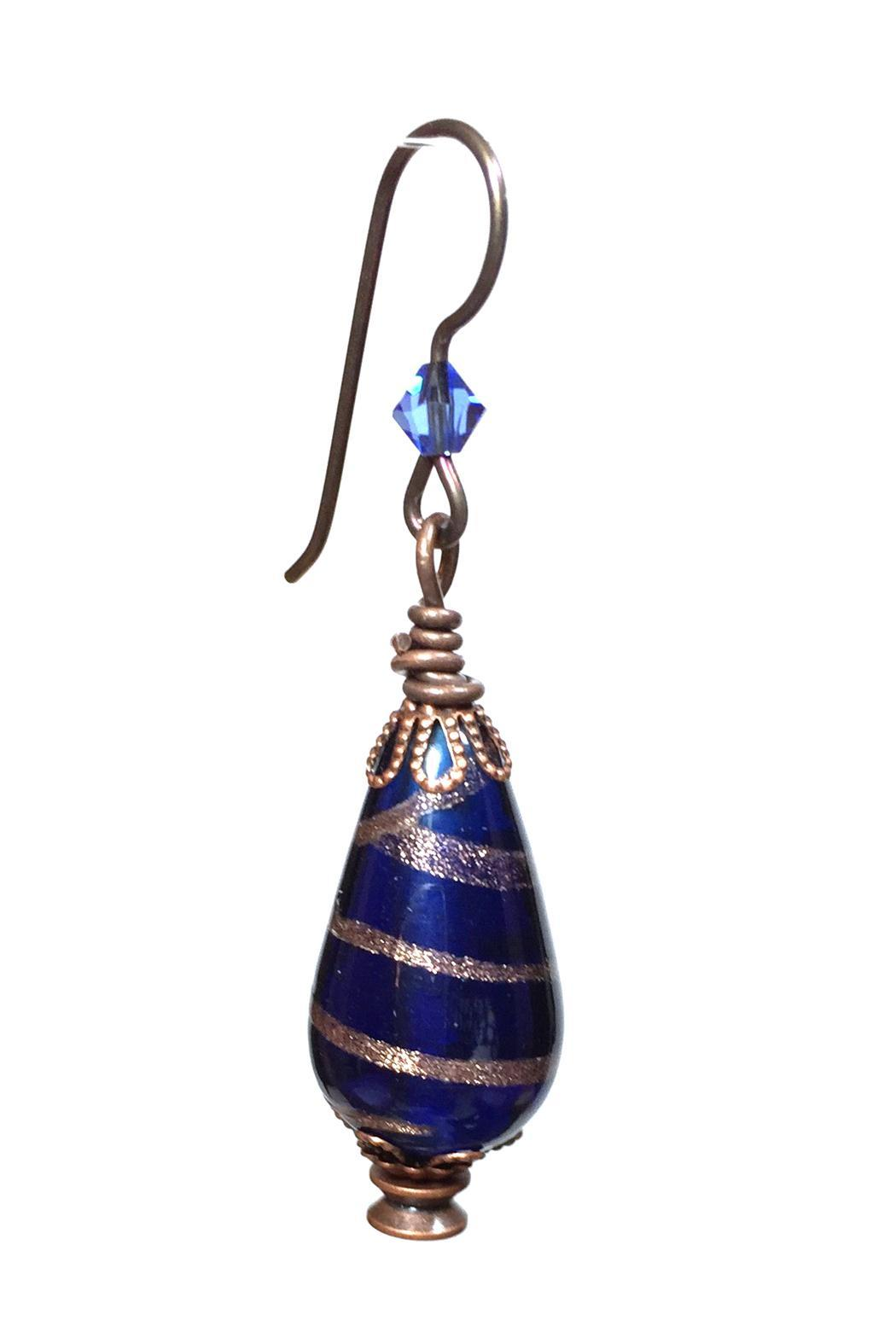 Leocadia Designs Blue Gypsy Earrings - Front Full Image