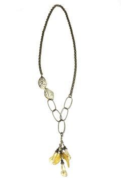 Shoptiques Product: Calla Lilies Leaves Necklace