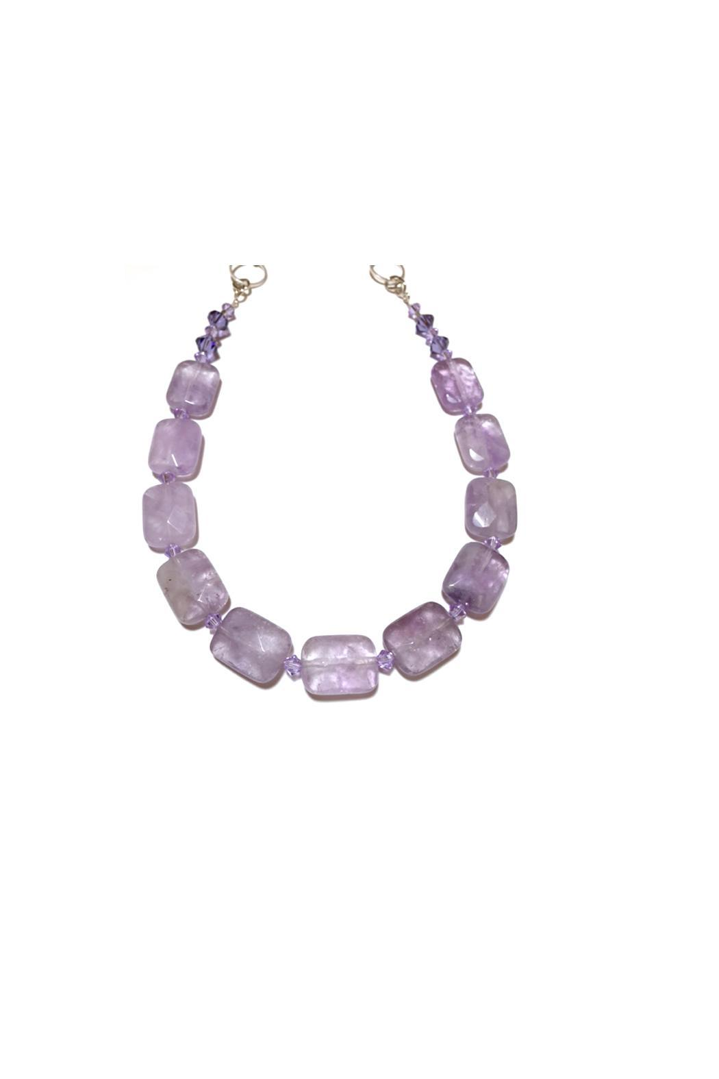 Leocadia Designs Lavender Amethyst Necklace - Side Cropped Image