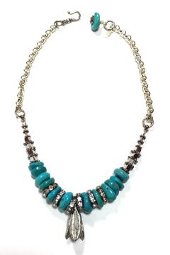 Leocadia Designs Turquoise And Rhinestones Necklace - Product List Image