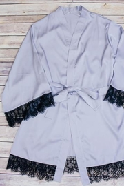 Leon Camilla Silk Robe - Front full body