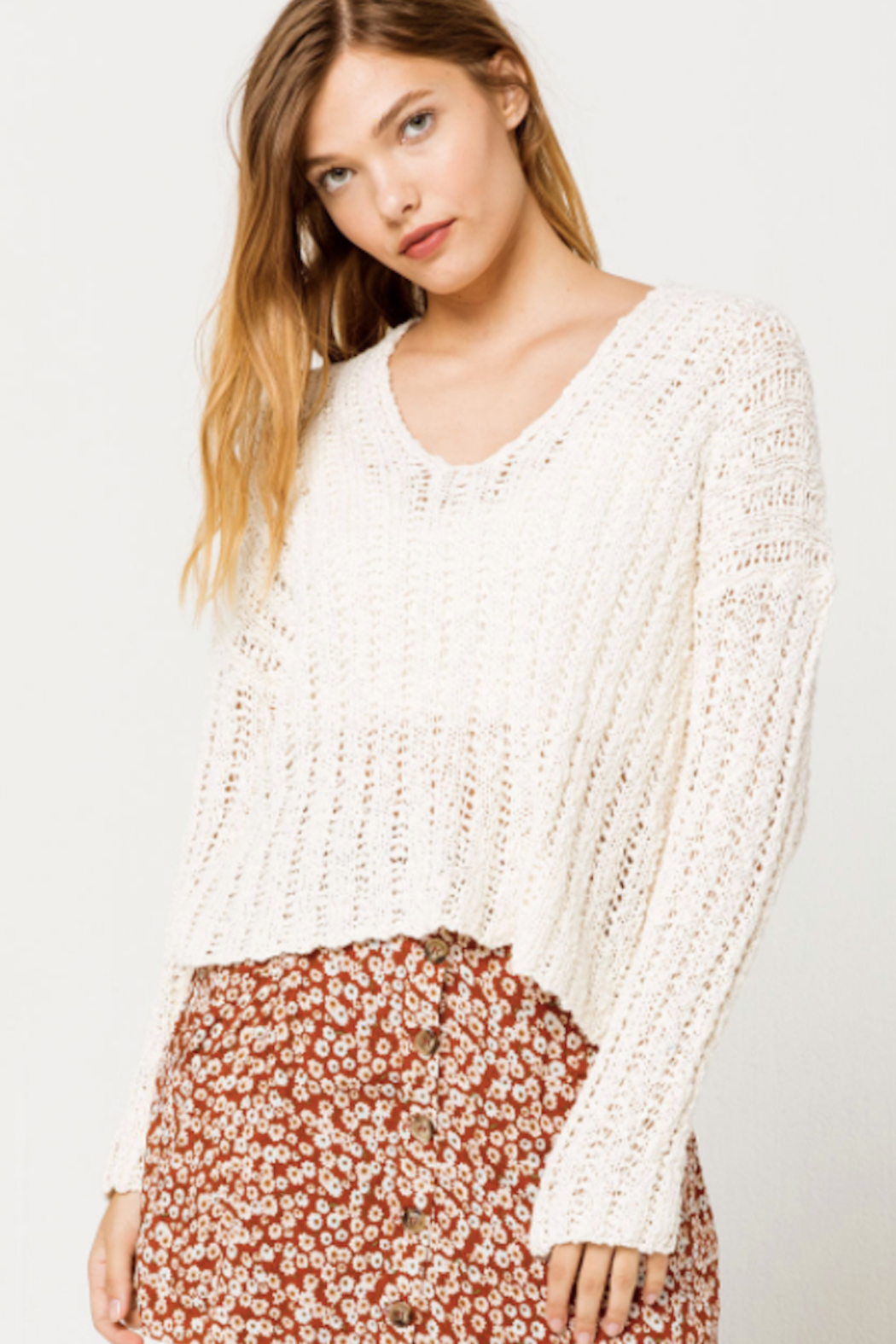 Others Follow  Leony Sweater - Front Full Image