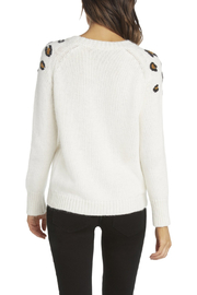 Willow & Clay Leopard Applique Sweater - Front full body