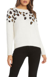 Willow & Clay Leopard Applique Sweater - Front cropped