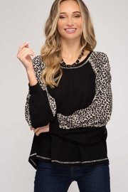 She & Sky  Leopard Arm Shirt - Product Mini Image