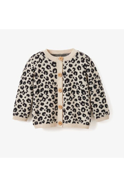Elegant Baby Leopard Baby Cardigan - Front cropped