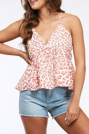 Peach Love California Leopard Babydoll Top - Product Mini Image