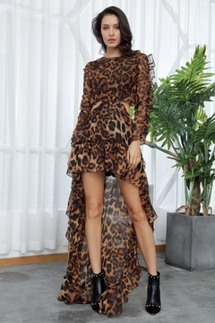 Shoptiques Product: Leopard Backless Dress