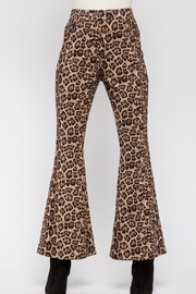 &merci Leopard Bell Bottoms - Product Mini Image